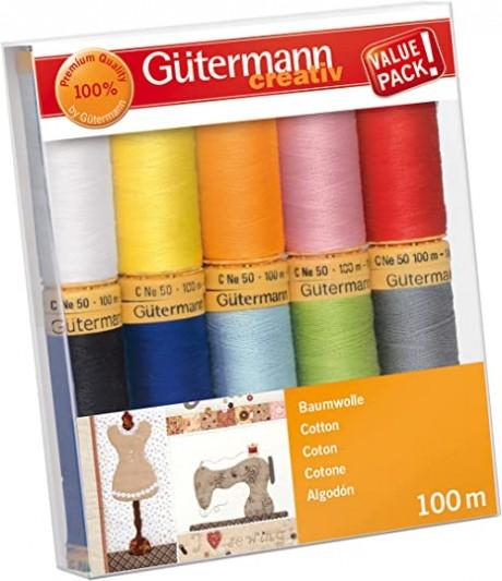 Gütermann medvilninių siūlų rinkinys 734521, col. 2