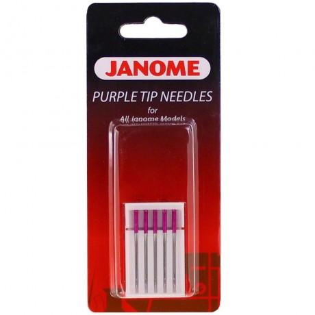 """Janome mašininių adatų komplektas """"Purple tip needles"""" 202122001"""