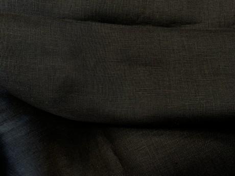 Lino audinys 05c212, juoda, atraiža 122 cm