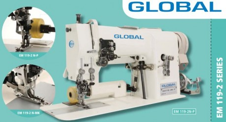Global EM 119-2 N  dviadatė, mereškavimo, siuvimo mašina
