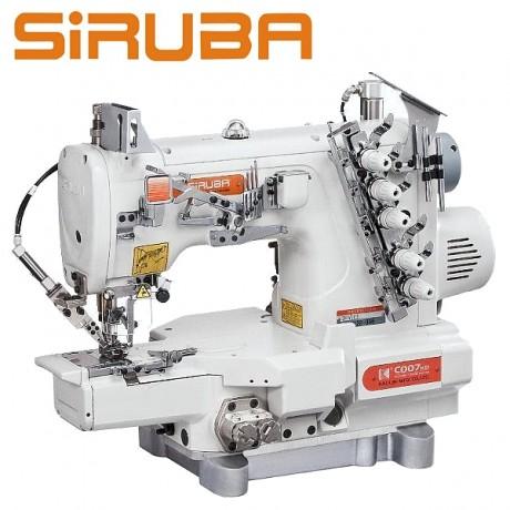 Siruba C007KD-W122-356/CH/UTP plokščiasiūlė , trijų adatų, su viršutiniu padengimu , su automatiniu siūlų nukirpimu. (pneumatika