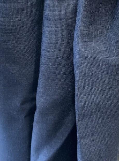Lino audinys 2c64, tamsiai mėlyna, atraiža 165 cm
