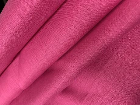 Lino audinys 2c64, ryškiai rožinė, atraiža 140 cm