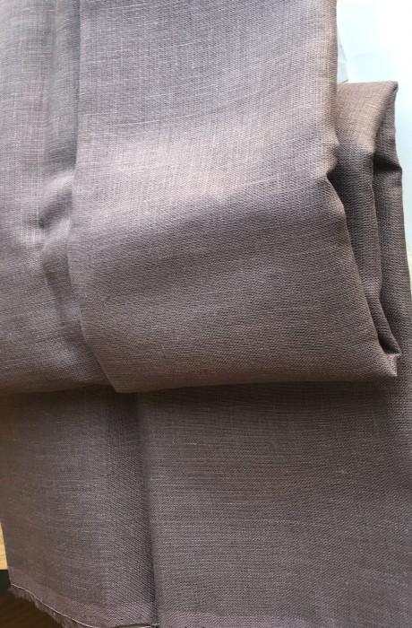 Lino audinys drabužiams, namų tekstilei, atraiža 165 cm, tamsiai violetinė 4c33