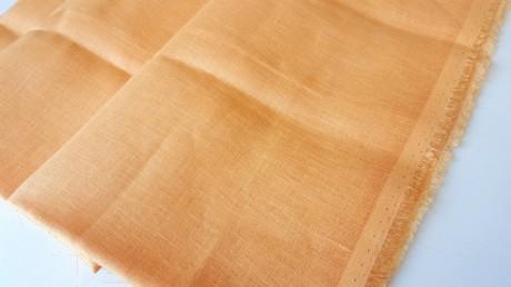 Lino audinys 2c64, šviesiai oranžinė, atraiža 199 cm