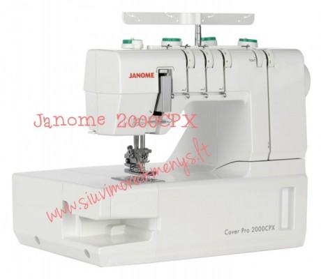 Plokščiasiūlė buitinė siuvimo mašina Janome CoverPro 2000CPX