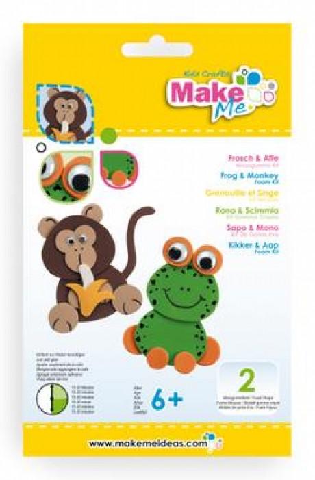 """Putplasčio žaislų rinkinys  """"Varlytė ir Beždžionė"""""""