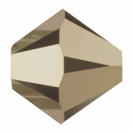Karoliukai 5328/6 Crystal Metal Light Gold